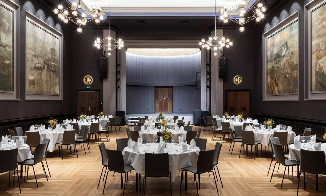 Belysning i Grand konferanse- og festlokaler i Bergen