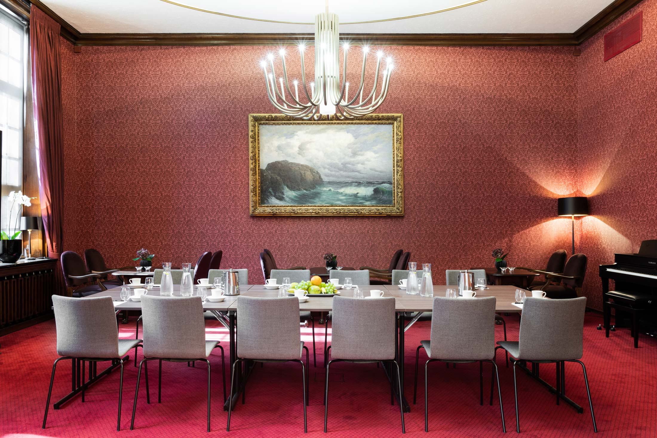Restaurantbelysning hos Grand Bergen