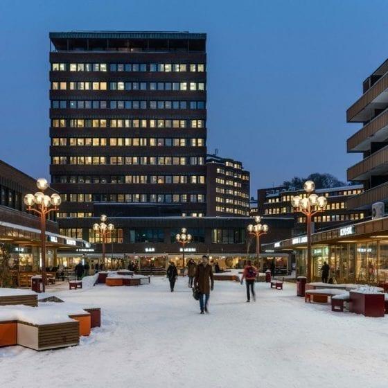 Utebelysning på Tøyen Torg i Oslo