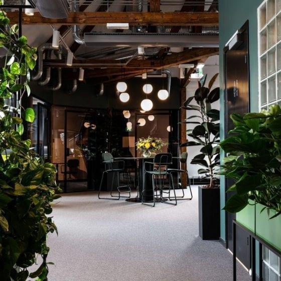 Kontorbelysning hos Ramsøskar Interiørarkitekter