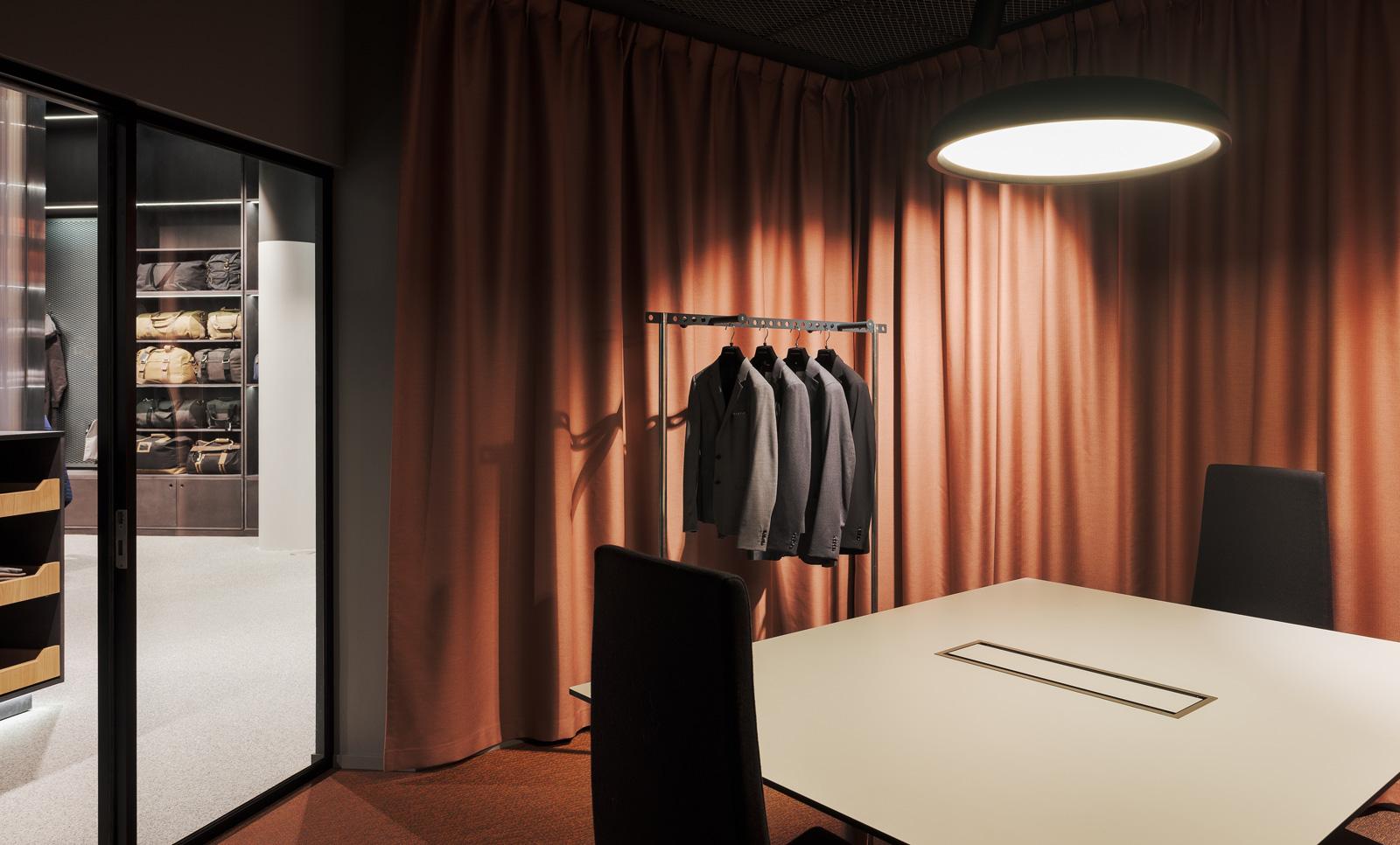 Belysning i showroom hos New Wave