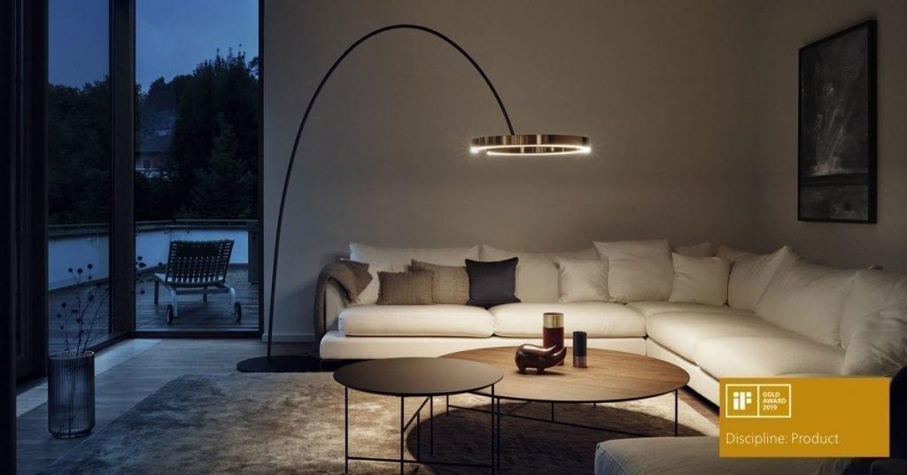 Mito gulvlampe fra Occhio i stuemiljø