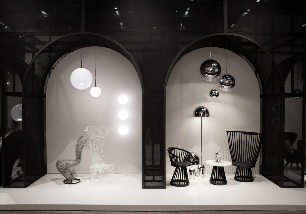Visning av lamper fra Tom Dixon
