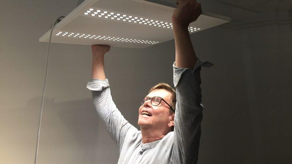 Oppsett av lampe i arbeidsmiljø