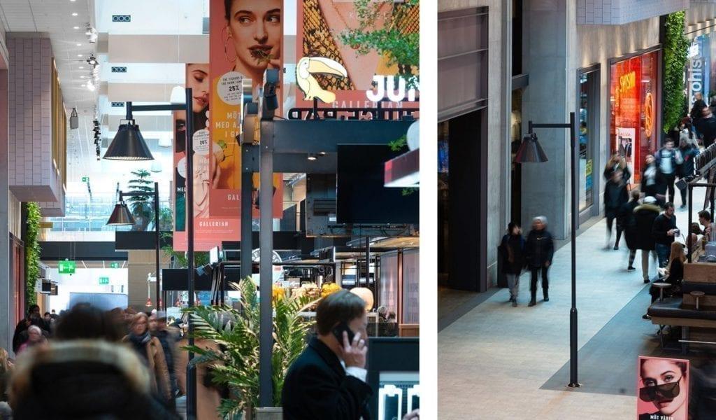 Zero City Pole i bruk innendørs på kjøpesenter