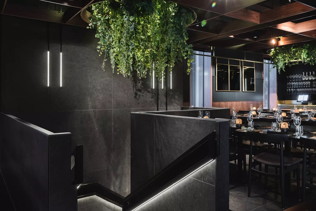 Restaurantbelysning hos Code Restaurant