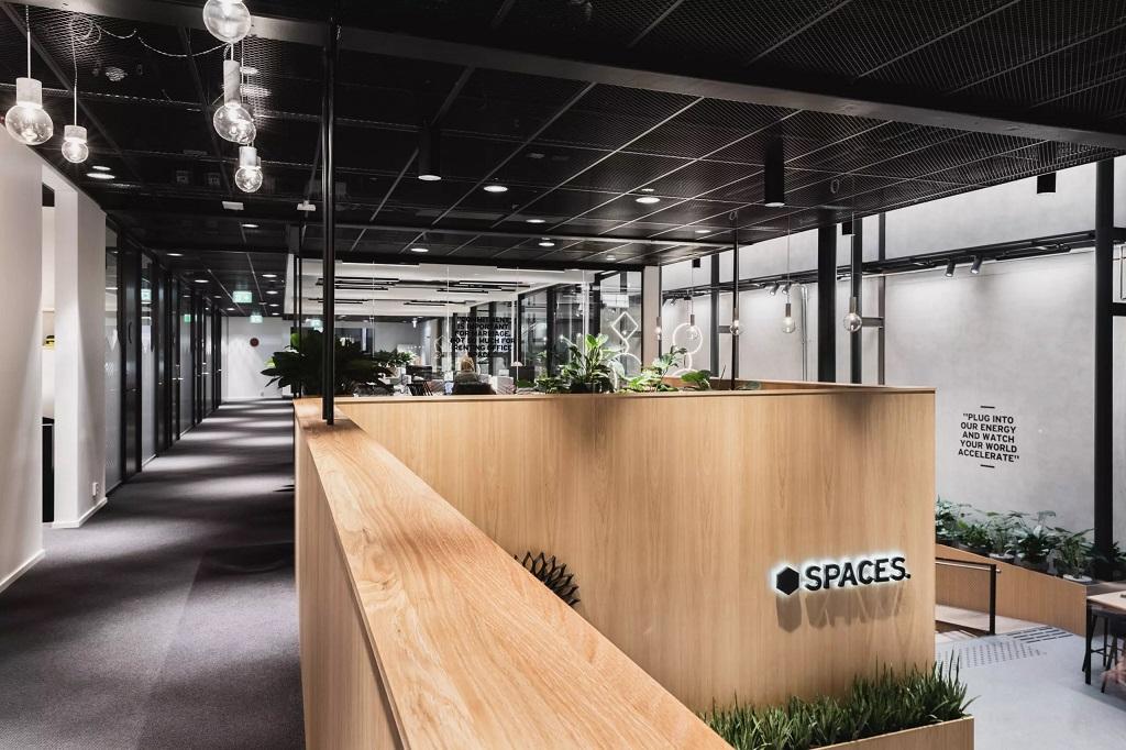 Belysning i kontorlokaler hos Spaces Apotekergata i Oslo