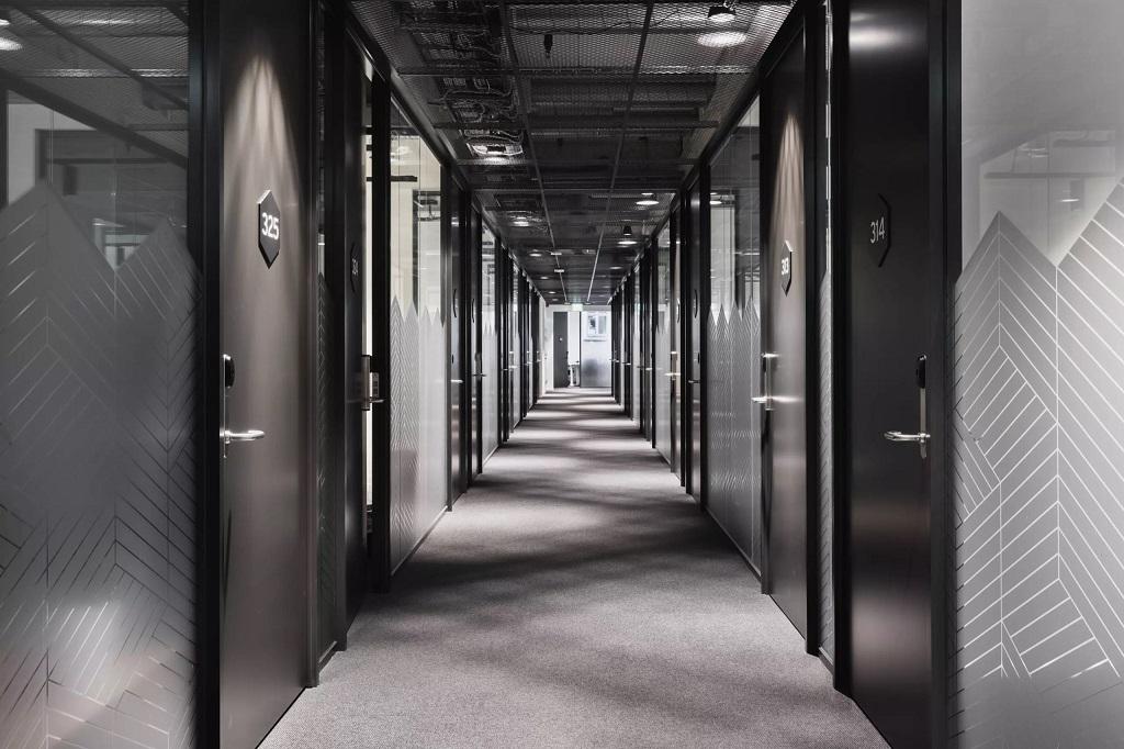 Gangbelysning i kontorfellesskapet Spaces Apotekergata i Oslo