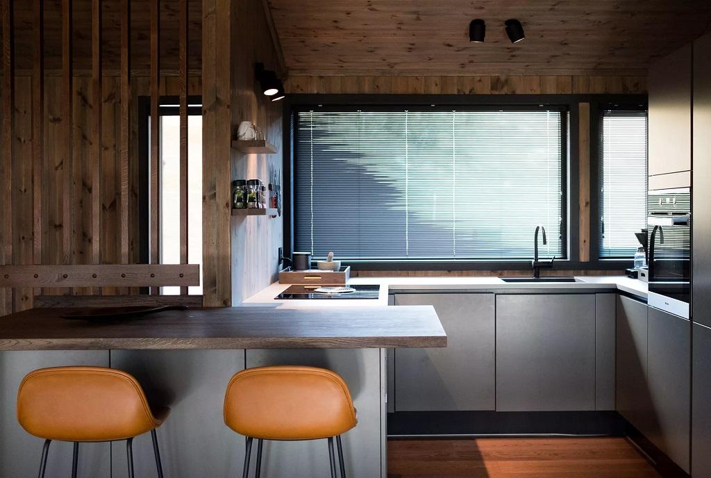 Kjøkkenbelysning i leilighet på Kvitfjell