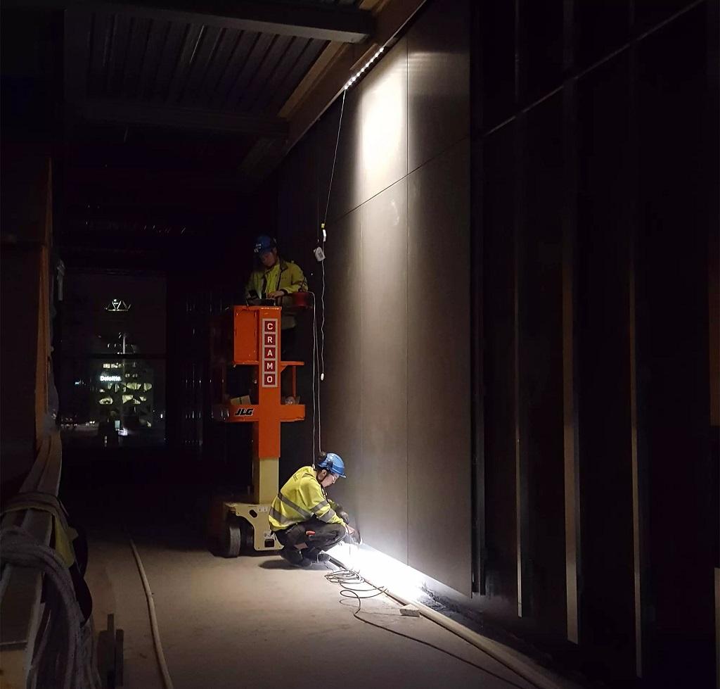 Arbeidsprosess med oppsett av belysning på Munchmuseet