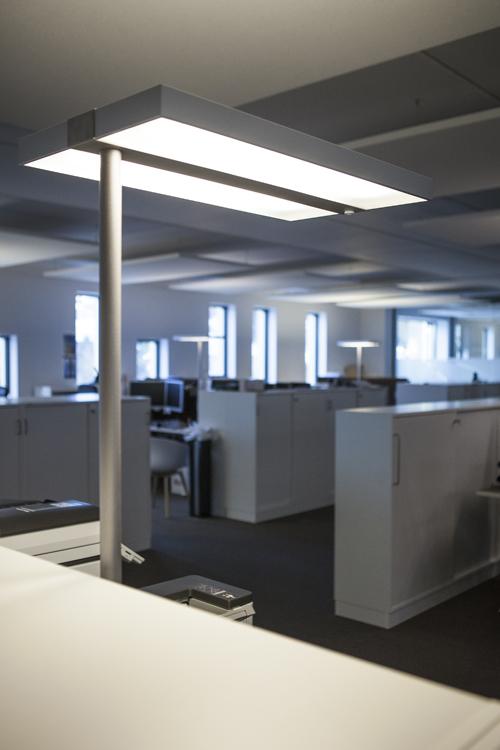 Kontorbelysning hos Wilberg Atrium