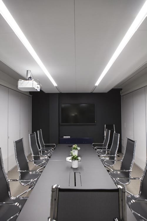 Møteromsbelysning hos Wilberg Atrium