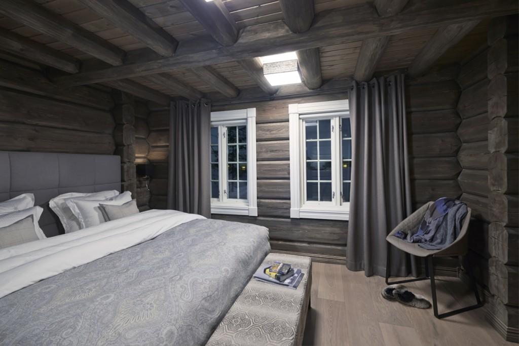 Belysning i soverom i hytte på Hafjell