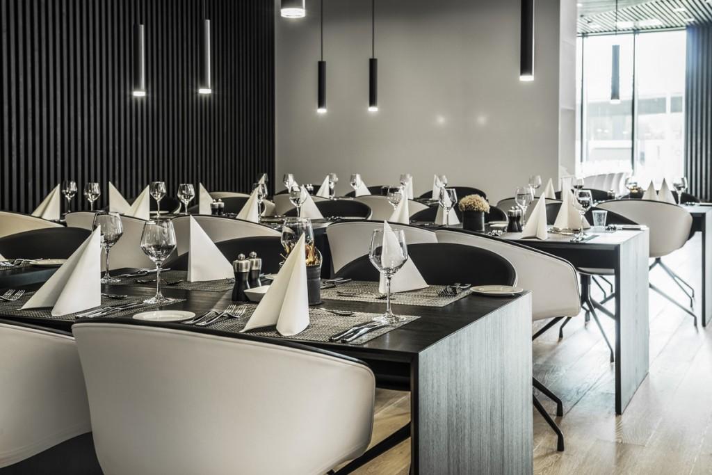 Belysning i spisesal hos Statoil VIP senter