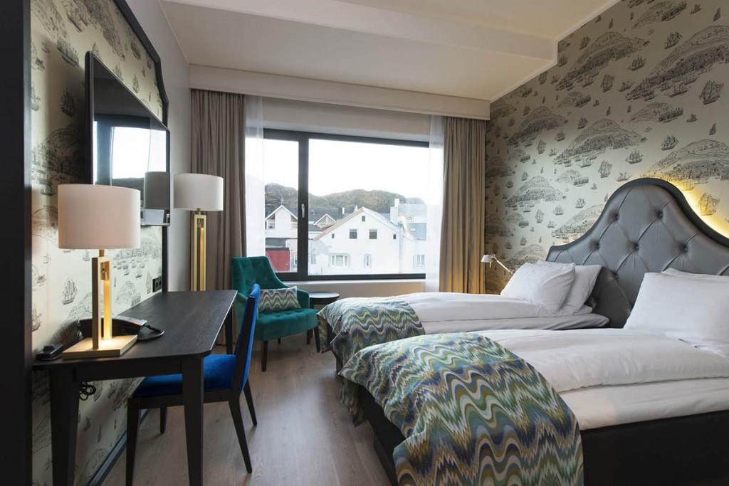 Belysning i hotellrom på Thon Hotell Fosnavåg