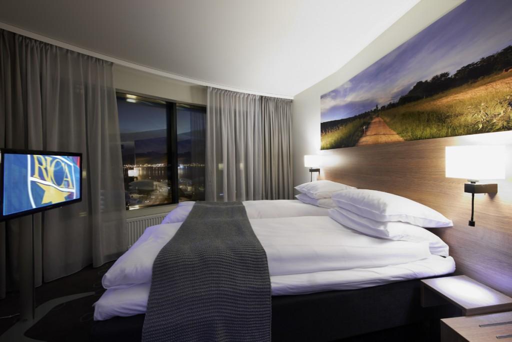 Belysning i hotellrom på Rica Hotell Narvik
