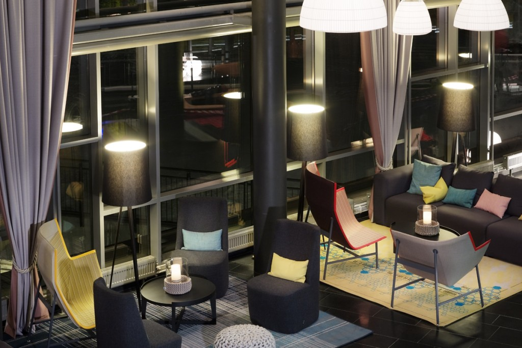 Belysning i fellesområde på Rica Hotell Narvik