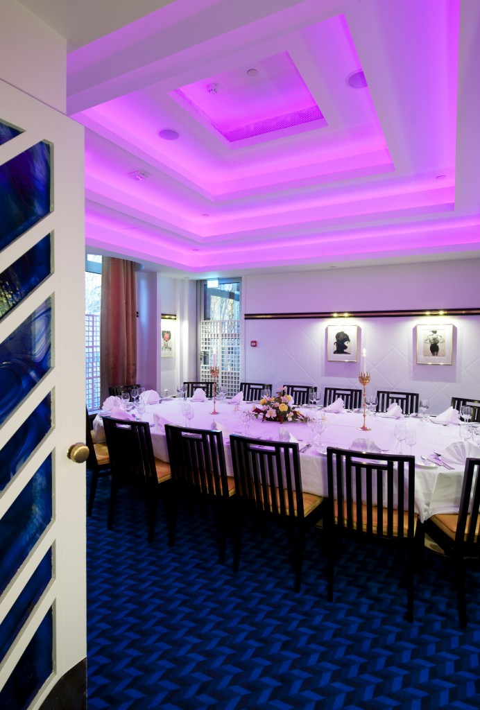 Belysning i spiseområde Thon Hotell Oslofjord