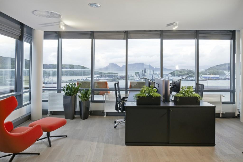 Kontorbelysning på Poweroffice i Bodø