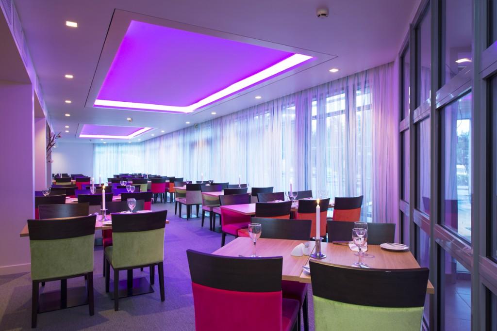 Restaurantbelysning på Thon Hotell Bergen Airport