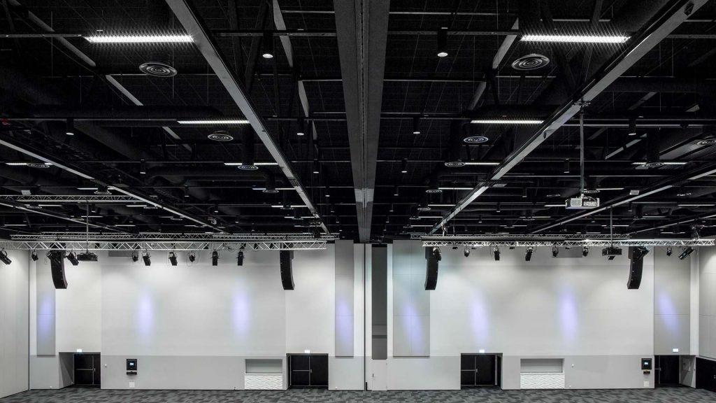 Belysning i konferansesal på Thon Congress Gardermoen