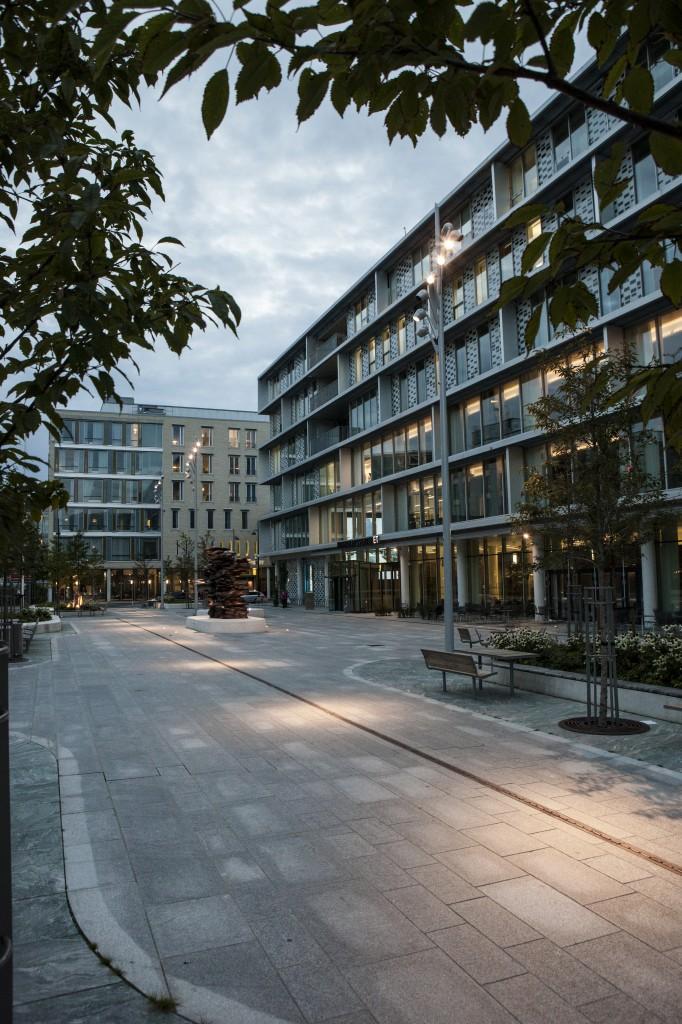 Belysning utenfor St. Olavs Hospital