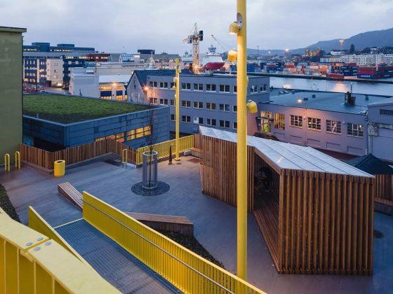 Belysning til Strax-tunet på Gyldenpris i Bergen