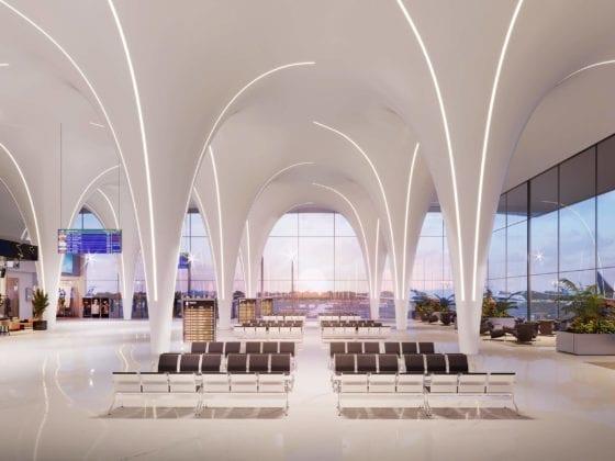 Tracker belysning fra Intra Lighting i flyplassmiljø