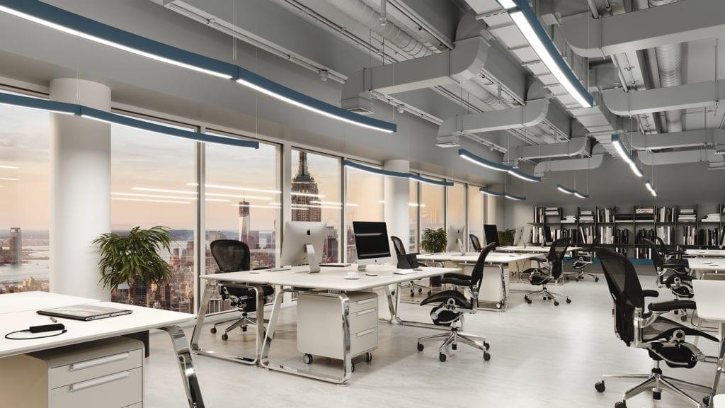 Landscape fra Zero i åpent kontorlandskap