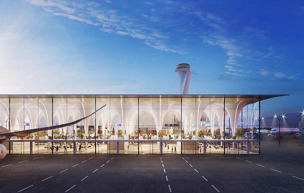 Tracker fra Intra lighting på flyplass