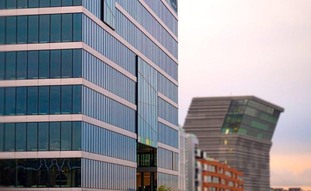 PWC-bygget fasade