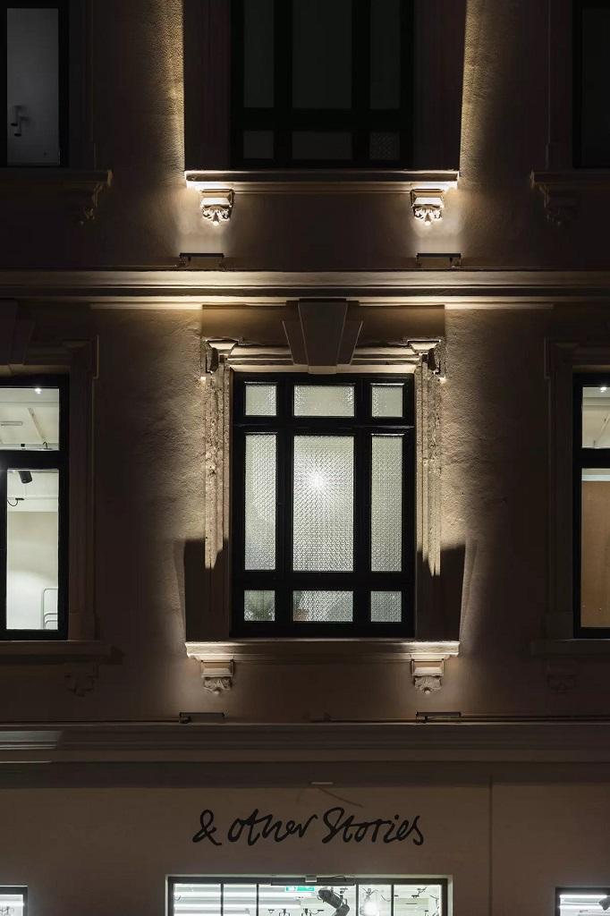 Fasadebelysning i Bogstadveien