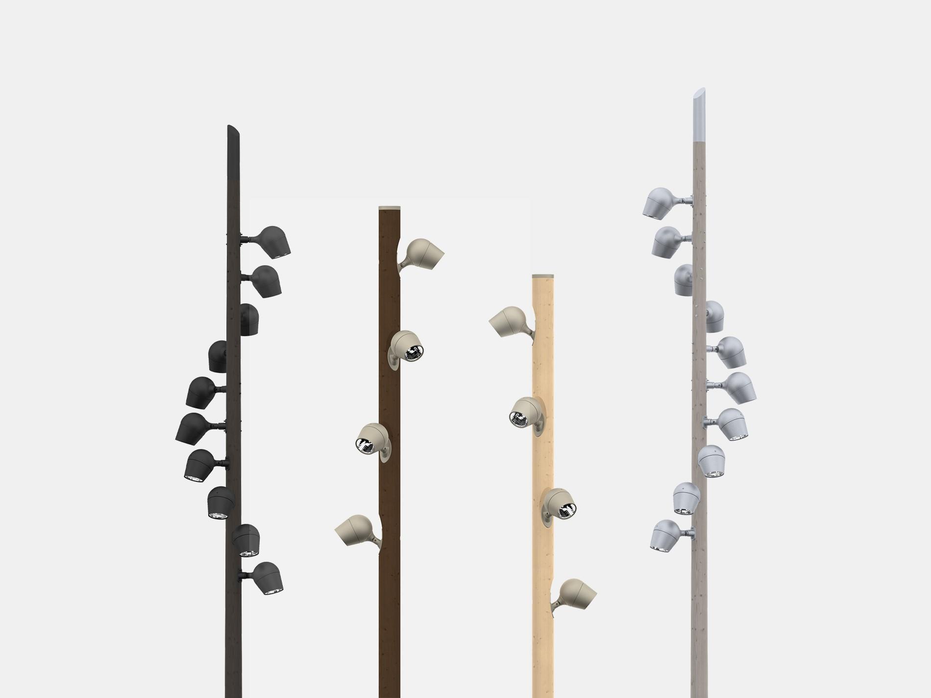 Olivio Wood lamper fra Selux på tremaster