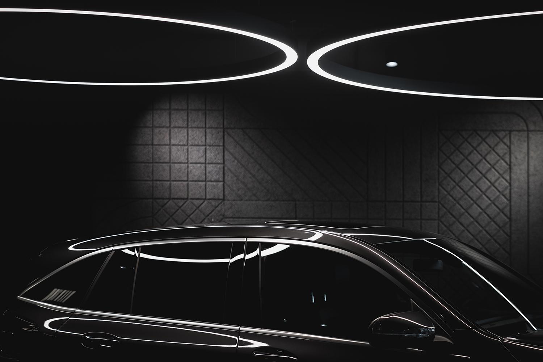 Belysningen i showroom for Bertel O. Steen