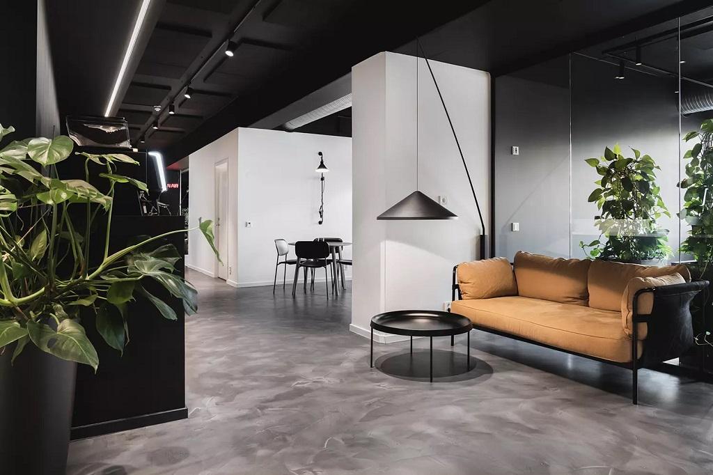 Belysning i kontorlokaler på Ensjø i Oslo