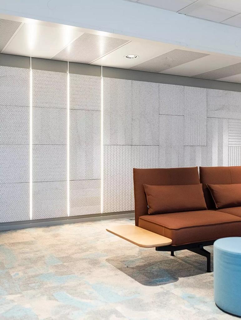 Belysning i Fremtind Forsikring sitt hovedkontor