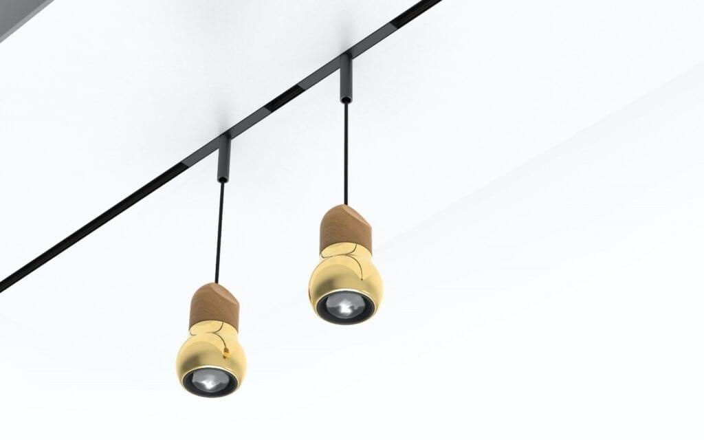 Skinnesystem for lamper fra TAL