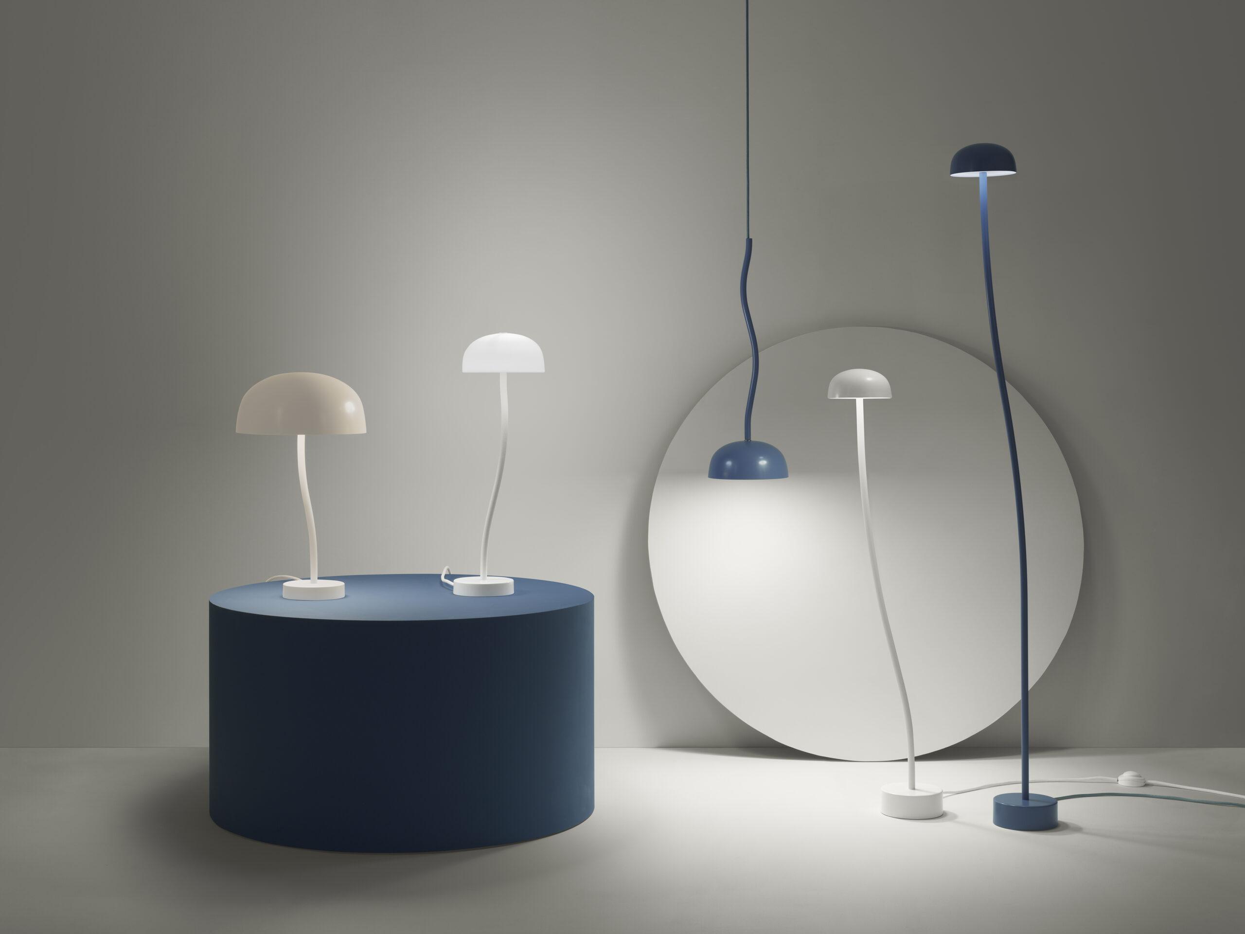 Curve bord-, gulv- og taklamper fra Zero
