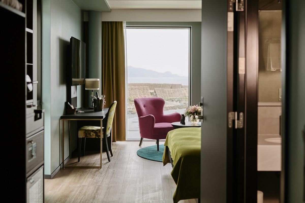 Belysning og innredning på business rommet på Thon Hotel Svolvær