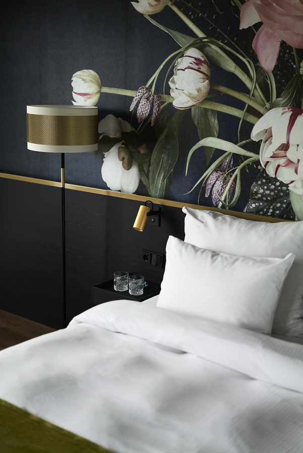 Belysning fra Baulmann Leuchten i Thon Hotels standard dobbel rom