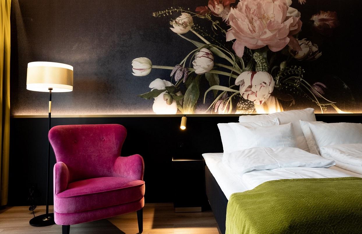 Belysning fra Baulmann Leuchten i Thon Hotels hotellrom